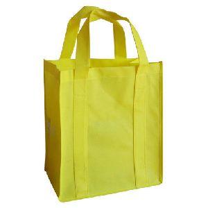 Yellow Loop Handle Non Woven Bags