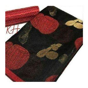 Ladies Black Semi Cotton Saree