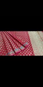 Ladies Muslin Kora Party Wear Saree