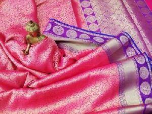 Ladies Semi Katan Sarees Party Wear Silk Saree