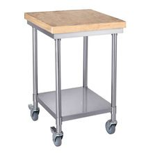 Kitchen Cutting Board With Mobile Bench