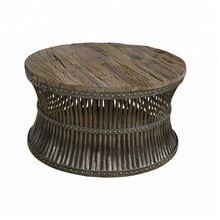 Antique Finish Sleeper Wood Coffee Table