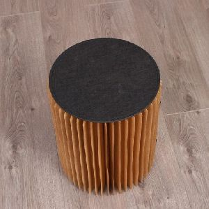 Fin Brown Paper Stool