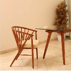 Uchiwa Solid Wood Dining Chair