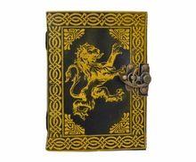 Lion handmade celtic Leather Journal Book