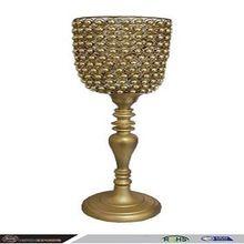 Golden Crystal Candle Holder Stand