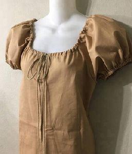 Cotton Color Peasant Casual Women Top