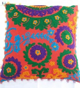 Embroidered Woolen Suzani Cushion Covers