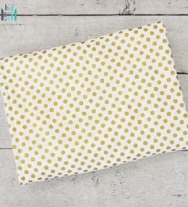 Gold And White Printed Blanket