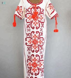 Hand Embroidered Mexican Kaftan