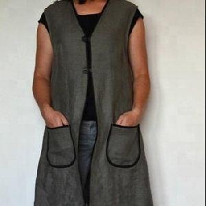 Linen Long Vest Tunic Top