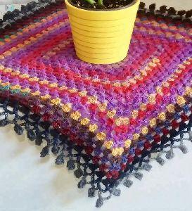 Vintage Handmade Knitted Crochet Cover