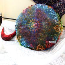 Multicolor Pouf Mandala Seat Cushion Cover