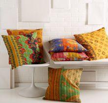 Cotton Kantha Pillow
