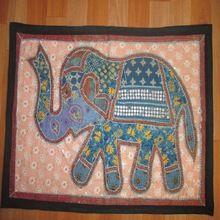 Handmade Ethnic Vintage Patchwork Elephant Wall Hangings