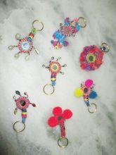 Pom Pom Key Chain Key Ring