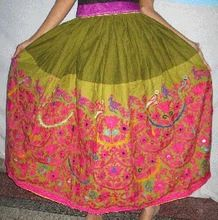 Silk Sari Skirts