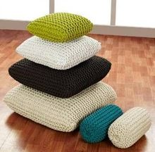 Handmade Braided Cotton Rope Cushion Covers