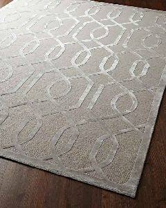 Knotted Wool Silk Rug Carpet