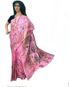 Kantha Stitched Art Silk Dopian Silk Saree
