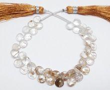 Rutilated Quartz Faceted Pear Loose Gemstone Beads