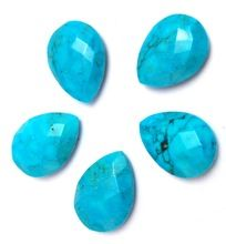 Turquoise Pear Faceted Loose Gemstone