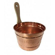 Hammered Copper Plated Wooden Sauna Bucket