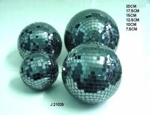 Black Glass Mosaic Decorative Balls