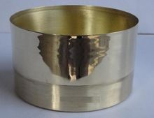 Double Tone Solid Brass Candle Holder