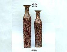 Glass Mosaic Iron Vase