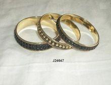 Mosaic Of Metal Resin Brass Bangles