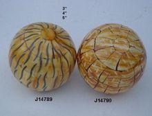 Wood And Bone Mosaic Decorative Balls