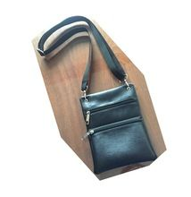 Leather Travel Wallet With Neck Strap