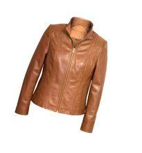 Ladies Autumn Winter Leather Genuine Jacket