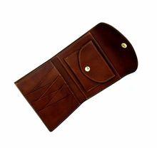 Women Mini Magic Bifold Leather Card Holder