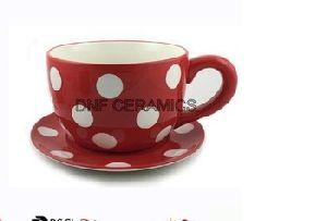 Ceramic Table Top Pot Cup Saucer