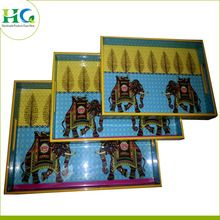 Wood Plastic Resin Serving Tray