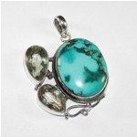 Multi Gemstone Pendant 925 Sterling Silver Jewelry