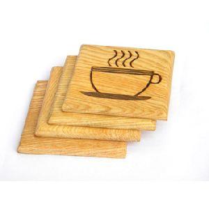 Wooden Engrave Antique Wood Coaster