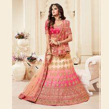 Pink Silk Wedding Wear Embroidery