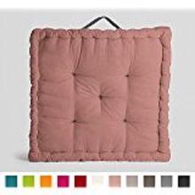 plain cushion filled Pouf