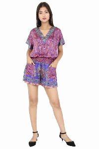 Vintage Sari Silk Jumpsuit Romper