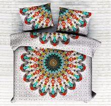 Bohemian Quilt Comforter Ethnic Duvet Set