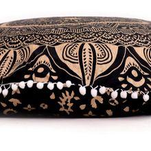 Gypsy Cushion Cove Pom Om Floor Pillow Cover