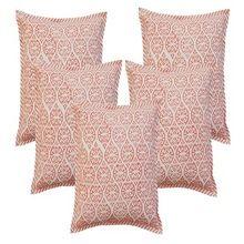 Hand Block Print Duck Cushion Cover
