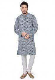Mens Printed Kurta Pajama