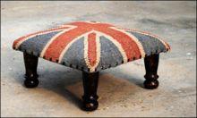 Kilim Union Jack Foot Stool