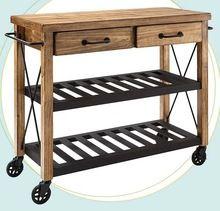 Wooden Kitchen Trolley Cart