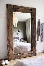 Wooden Live Edge Dressing Mirror