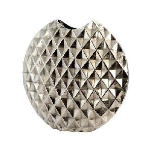 Diamond Metal Silver Flower Vase